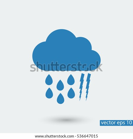 weather, cloud icon, vector best flat icon, EPS
