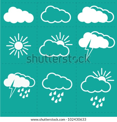 Weather Cloud  Icons vector