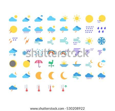 weather flat style