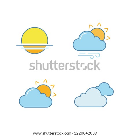 weather forecast color icons