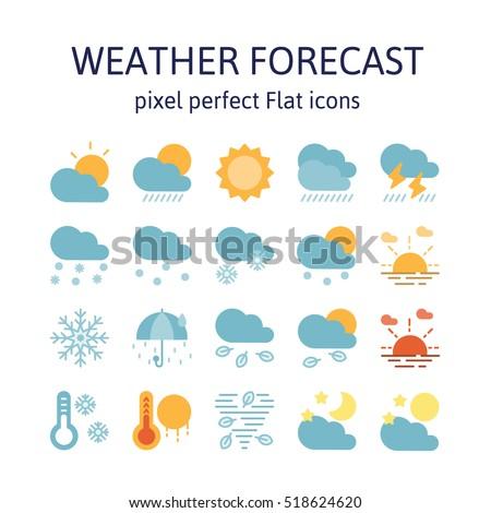 weather forecast   flat icons