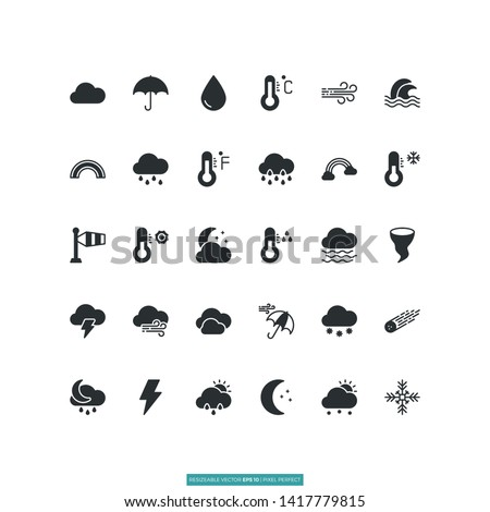 Weather Forecast Icon Vector Illustration Logo Template