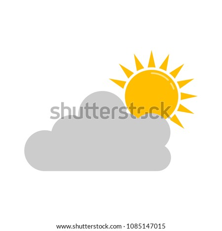 weather forecast icon, vector seasons clouds, cloudy weather