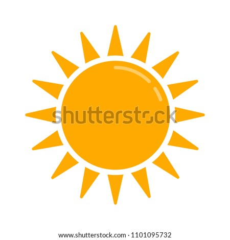 weather forecast icon, vector seasons sunny weather, sunny weather