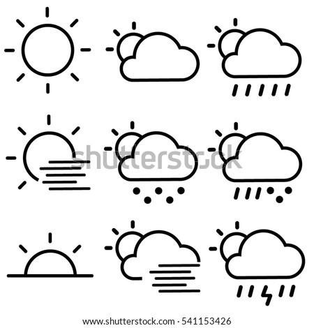 Weather Forecast Icons / Daytime Sky Set
