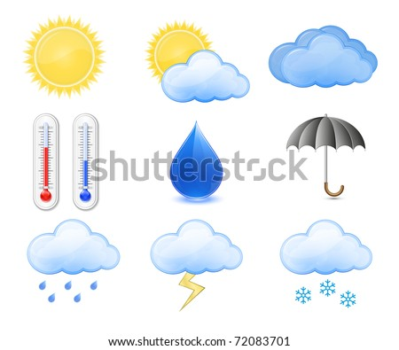 weather forecast icons outdoor