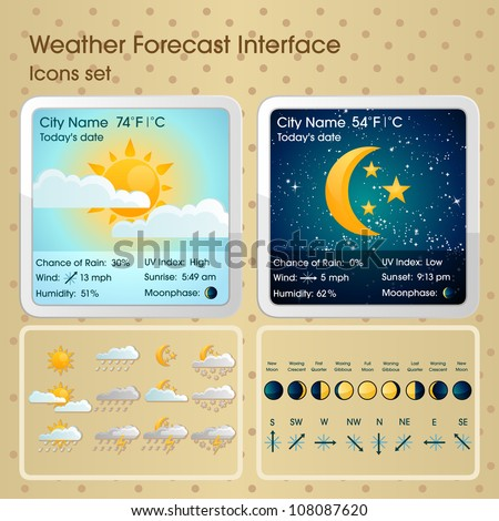 weather forecast interface with