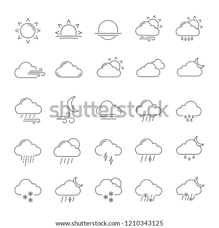 weather forecast linear icons