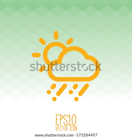 Weather icon. Flat style for graphic and web design, Modern simple vector sign. Internet concept. Trendy symbol for website design web button, mobile app.