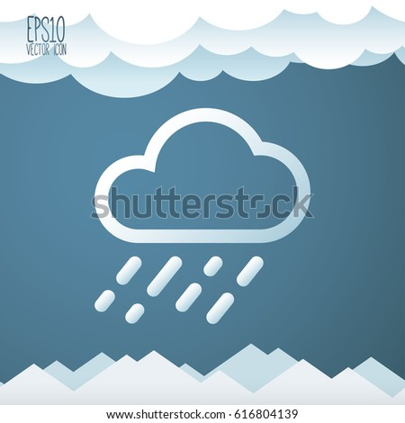 weather icon flat style for