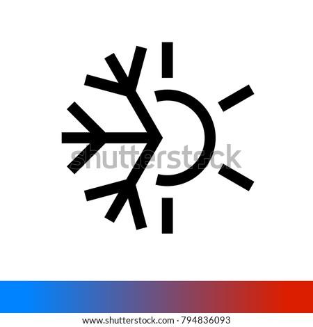 weather icon half of snowflake