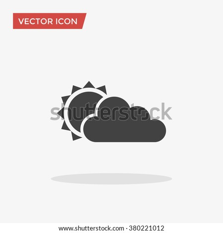 Weather Icon in trendy flat style isolated on grey background. Day symbol for your web site design, logo, app, UI. Vector illustration, EPS10.