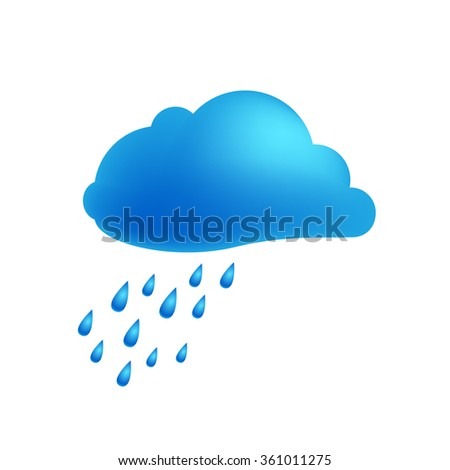 weather icon of cloud with rain