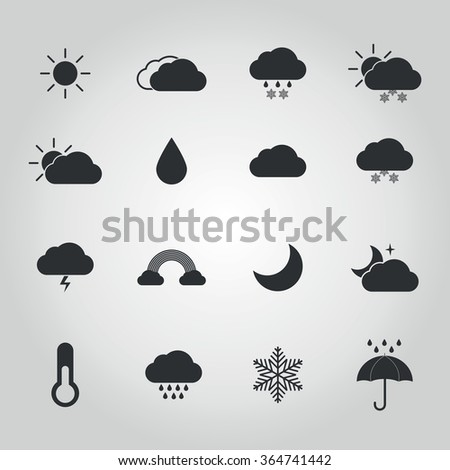 weather icon set for weather