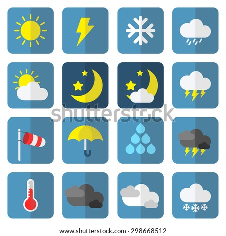 weather icon set in flat style