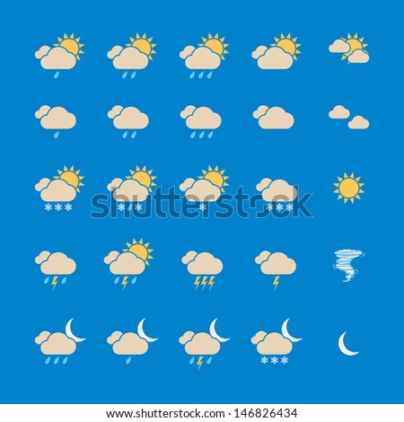 Weather Icon Set. Vector