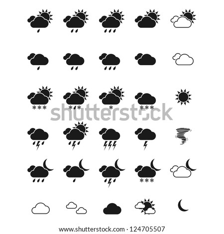 Weather icon set. Vector eps10
