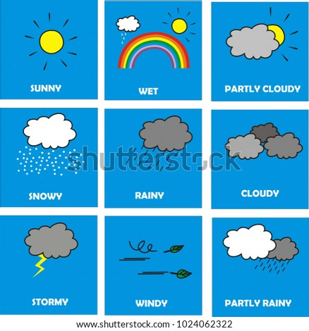 weather icon vector isolated on circle blue background