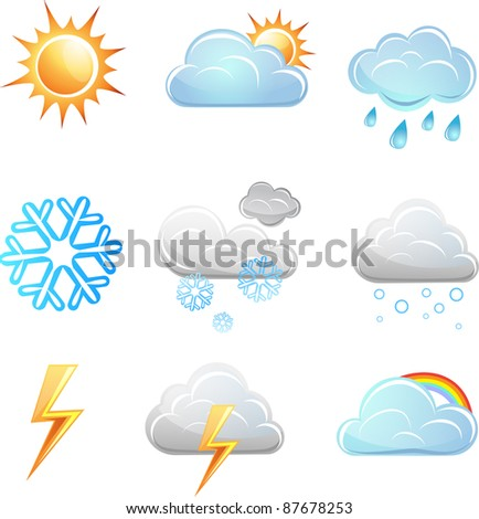 Weather icon vector set. elements for design