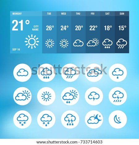 Weather Icons And Widgets For Print, Web or Mobile App