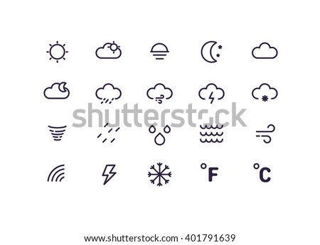 weather icons concept.
