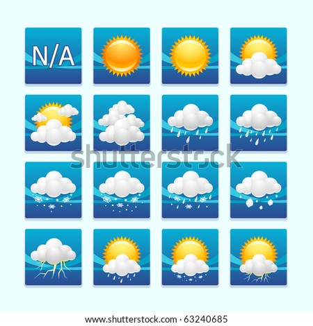 weather icons : day set