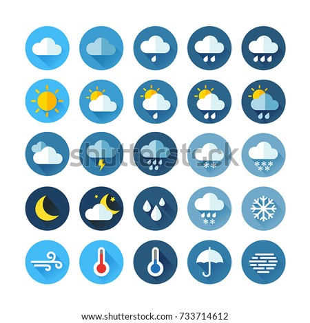 weather icons for print  web or