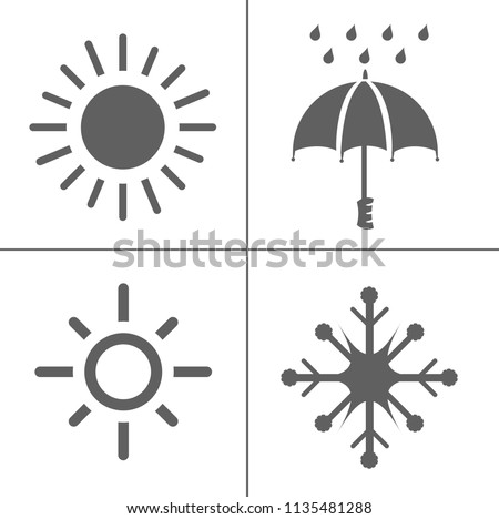 weather icons for weather forecast, temperature sign symbol. climate