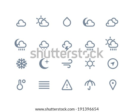 Weather icons. Line series