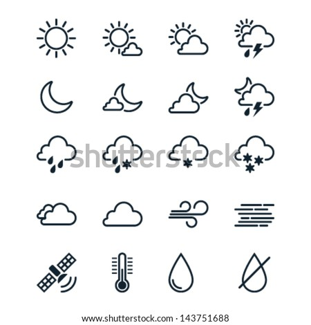 weather icons line theme