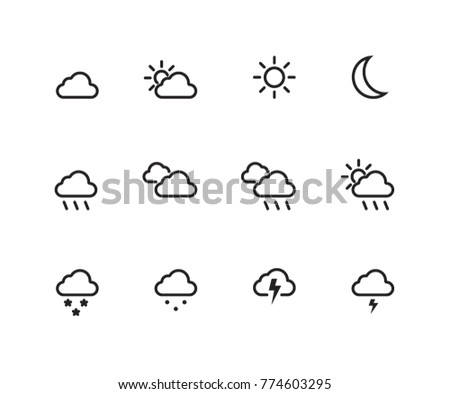 Weather Icons Outlined
