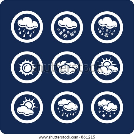 """Weather icons (p.1) To see all icons, search by keywords: """"agb-vector"""" or """"agb-raster"""""""