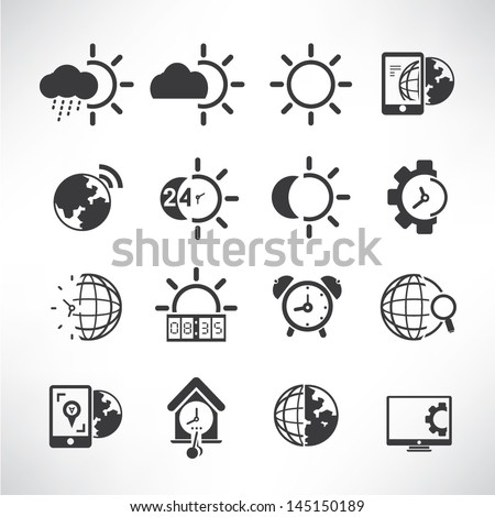 weather icons  time icons and
