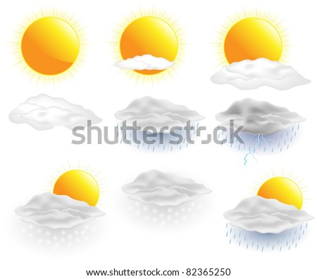 Weather icons. Vector.
