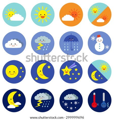 weather icons   vector eps 10