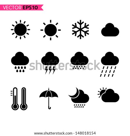 Weather icons vector set 1