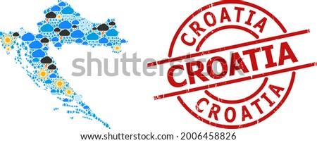 weather mosaic map of croatia