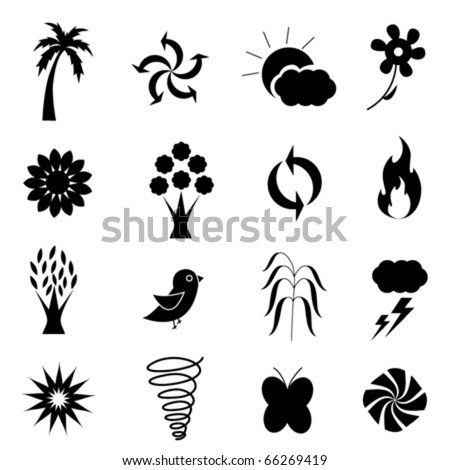 weather nature icon set