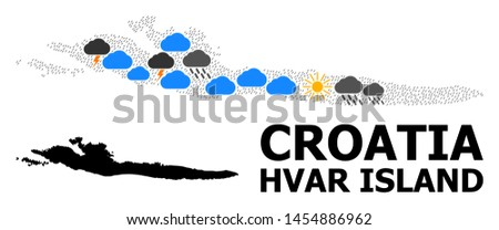 weather pattern vector map of