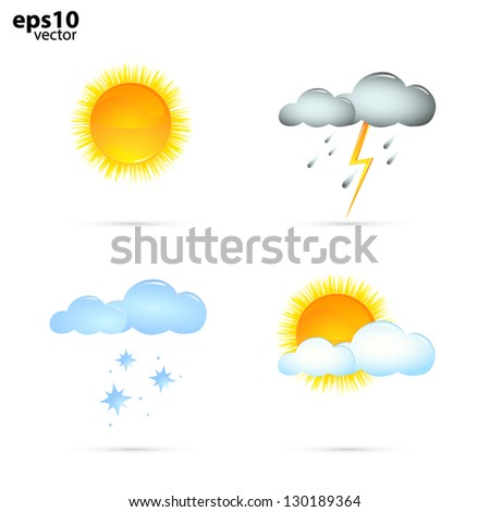 Weather report icons VECTOR