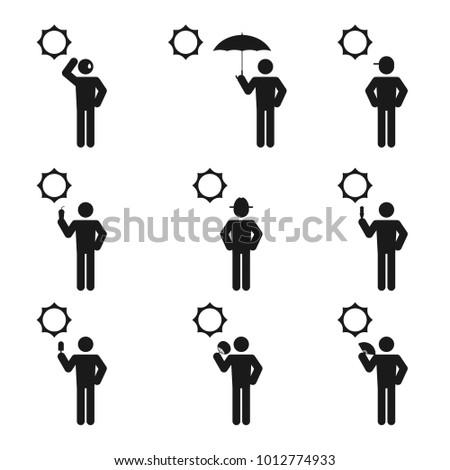 weather season summer man icons
