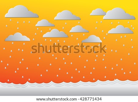 weather set of icons in a flat