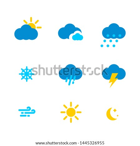 Weather set. Vector icons for weather