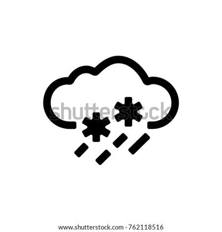 Weather Snow And Rain Icon. Vector.