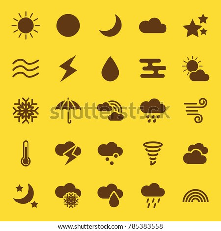 weather solid icons, vector design with 64x64 pixel