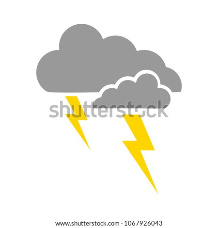 weather storm illustration,  sun rain symbol - weather storm icon - Shutterstock ID 1067926043