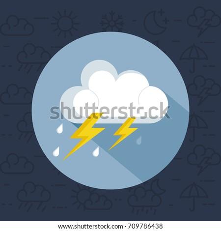 weather storm thunderstorm icon