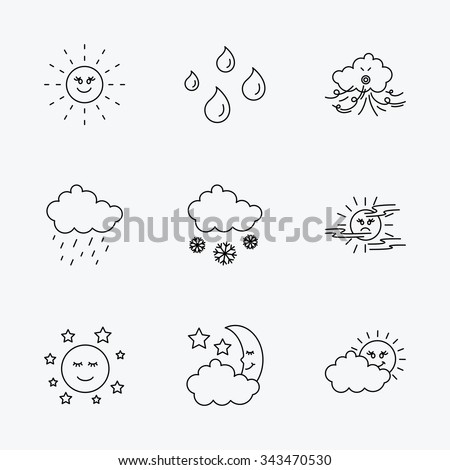 weather  sun and rain icons