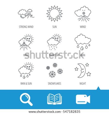 weather  sun and rain icons