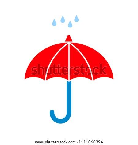 weather symbol. umbrella with rain icon